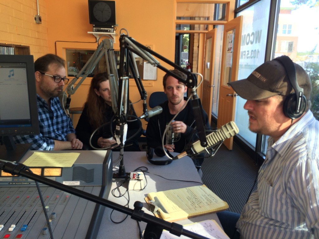 Left to right: Ed Kurtz, Soledad Medrano, J. David Osborne, and host Eryk Pruitt